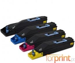 4 Compatible Toners, Kyocera TK 880 Black + Color ~ 25.000 / 18.000 Pages