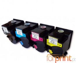 4 Compatible Toners, Konica Minolta TN-310 Black + Color ~ 11.500 Pages