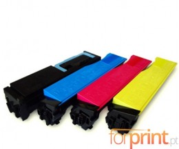 4 Compatible Toners, Kyocera TK 550 Black + Color ~ 7.000 / 6.000 Pages