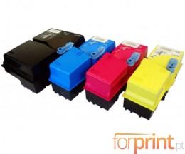 4 Compatible Toners, Kyocera TK 825 Black + Color ~ 15.000 / 7.000 Pages