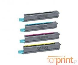 4 Compatible Toners, Lexmark C925H Black + Color ~ 8.500 / 7.500 Pages