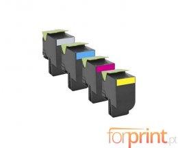 4 Compatible Toners, Lexmark 702H Black + Color ~ 4.000 / 3.000 Pages