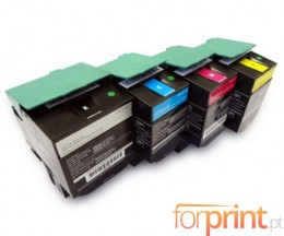 4 Compatible Toners, Lexmark C540H1 ~ 2.500 / 2.000 Pages
