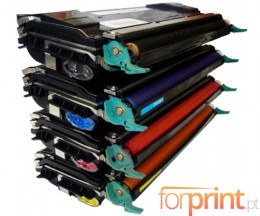 4 Compatible Toners, Lexmark C5220 ~ 3.000 Pages