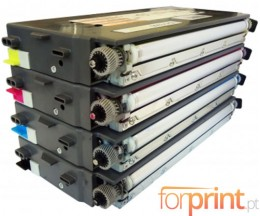 4 Compatible Toners, Lexmark C500H2 ~ 5.000 / 3.000 Pages