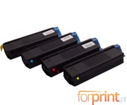 4 Compatible Toners, OKI 4212740X ~ 5.000 Pages