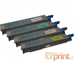 4 Compatible Toners, OKI 4345943X ~ 2.500 Pages