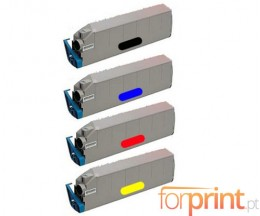 4 Compatible Toners, OKI 415152XX ~ 15.000 Pages