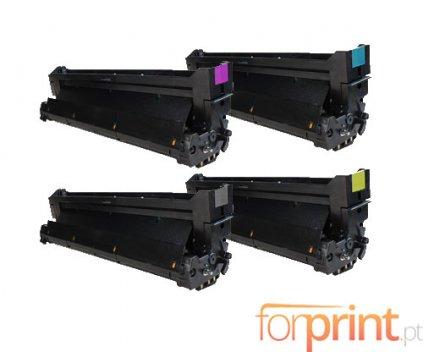 4 Compatible Drums, OKI 4291810X Black + Color ~ 30.000 Pages