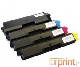 4 Compatible Toners, Olivetti P2026 Black + Color ~ 7.000 / 5.000 Pages