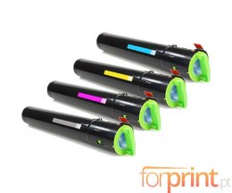 4 Compatible Toners, Ricoh 84119X Black + Color ~ 10.000 / 5.500 Pages