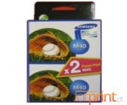 2 Original Ink Cartridges, Samsung M-40 Black 14ml