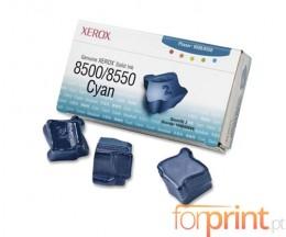 3 Original ColorSticks, Xerox 108R00669 Cyan ~ 3.000 Pages