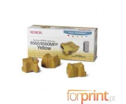 3 Original Toners, Xerox 108R00725 Yellow ~ 3.400 Pages
